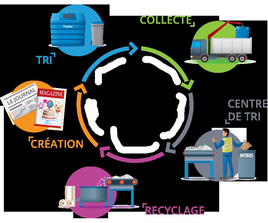 Exemples d'usages du papier-carton recyclable